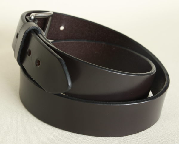 Men's leather belt. Handmade in English bridle leather.