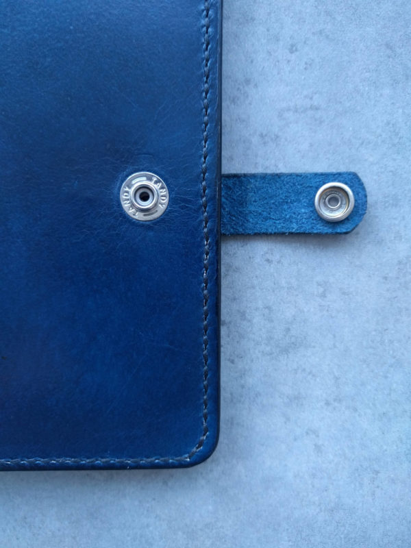 Clasp for the handmade leather passport holder. Available in multiple or single colours.