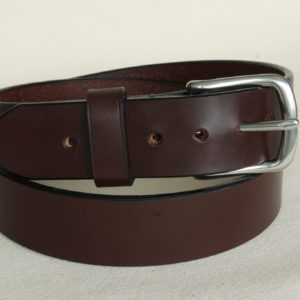 Handmade leather belt in Australian Nut colour