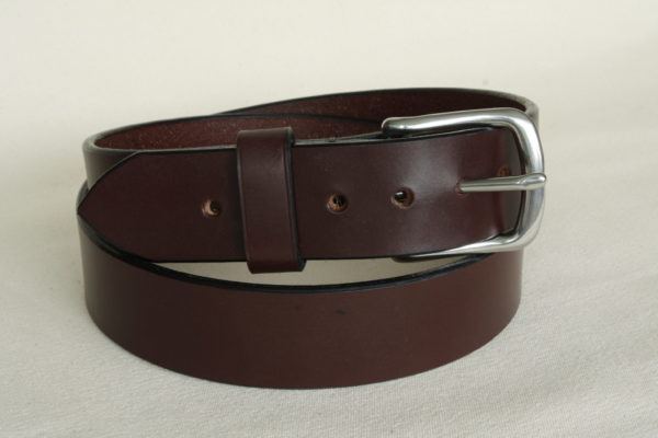Handmade leather belt in Australian Nut colour