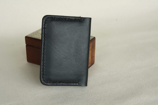 Small wallet in black leather