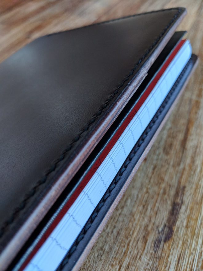 Handmade leather OXFORD Red n' Black A5 Notebook cover