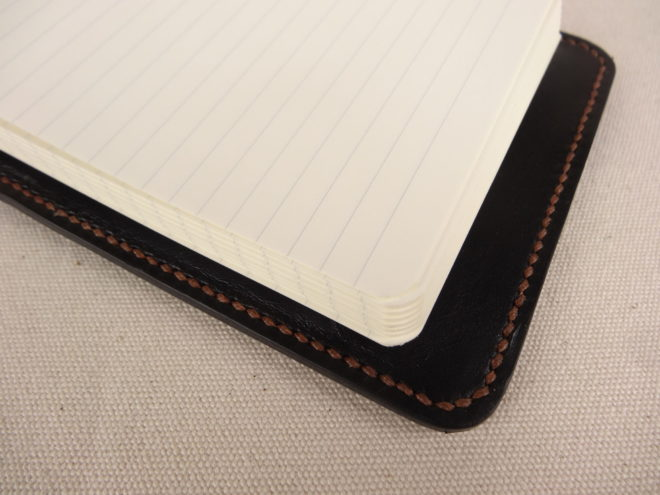 Leather cover for a Leuchtturm ReporterBloc A6 notebook