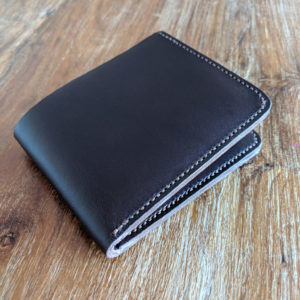 Handmade leather bi-fold wallet