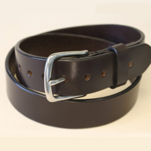 West End style handmade leather belt